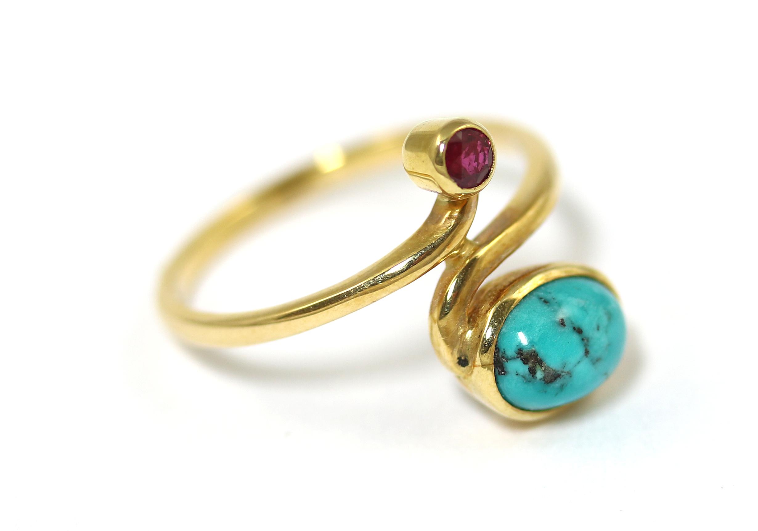 Vintage Türkis Ring